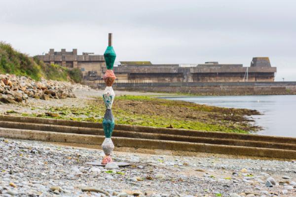 Voici une Balise installée en Bretagne où on était récoltés les déchets.